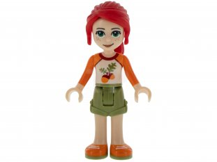 Main image for LEGO Mia with Olive Green Shorts, White Top with Orange Sleeves and Acorns