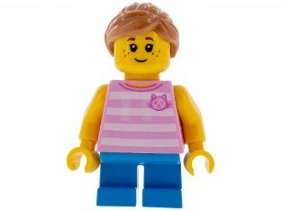 Lego New Medium Flesh Minifigure Hair Female Short Swept Sideways Part