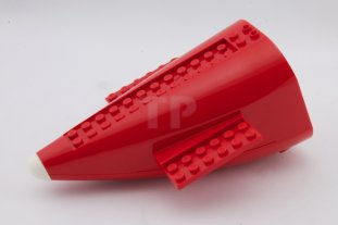 LEGO LARGE PART 54701C04 RED AIRCRAFT FUSELAGE CURVED AFT SECTION