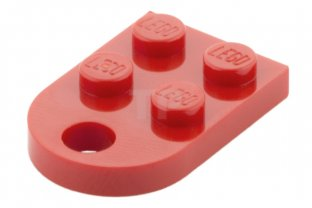 4 x LEGO® 3176 Platte mit Loch Öse 2 x 3 weiss wie auf dem Foto Neuware