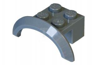 LEGO Set of 4 NEW Vehicle Mudguards 4 x 2 1//2 x 2 w// Arch Round Dark Bluish Gray