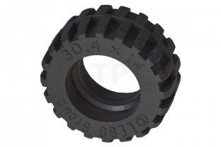 Lego 4x Tire Pneu 30.4 x 14 Offset Tread noir//black 92402 NEUF