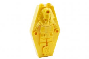 Lego 10 New Pearl Gold Container Coffin Lid Mummy Relief Plain Sarcophagus Parts