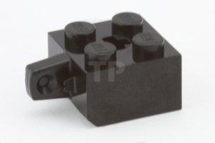 Lego 4 Black 2x2 hinge brick with 1 locking finger on the side NEW