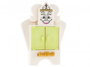 Main image for LEGO Wardrobe - Printed Face on Tile, Modified 2 x 3 Pentagonal with Drawer Handles