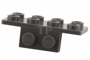10 X Lego 93274 Bracket 1x2-2x4 Dark Bluish Grey