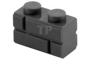 60 98283 1X2 MASONRY BRICKS LEGO DARK BLUISH GRAY PARTS