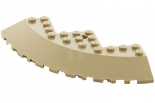 main image for Brick, Round Corner 10 x 10 with Slope 33° Edge, Axle Hole, Facet Cutout