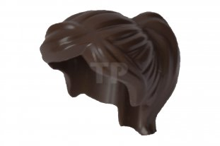 LEGO Minifigure Hair DARK BROWN 87990 Female Girl Ponytail Swept Sideways Fringe