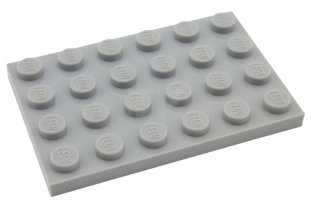 Flat 4x6 dark offer grey gray dark grey 4 x LEGO 3032 Plate NEW NEW