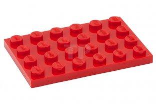 LEGO® Black Plate 4 x 6 Design ID 3032