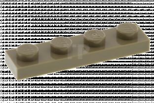 LEGO 1 x 4 BLUE PLATE x 16 PART 3710