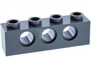 Lego 10 New Dark Bluish Gray Technic Bricks 1 x 4 with Holes Pieces