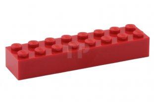 Red Lego Duplo Brick 2 X 8 X 1 2