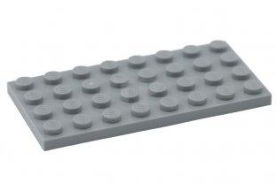 4 Stück LEGO® 2x12 Platten hellgrau