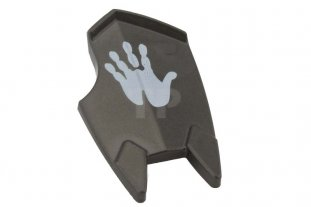 LEGO Shield Broad with Spiked Bottom and Cutout Corner with Handprint Minifig