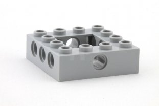 Lego Lot of 10 Light Bluish Gray Technic Bricks 4 x 6 Open Center Parts