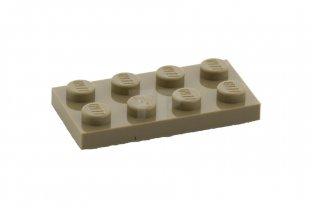 LEGO 3020 PLATE 2 x 4 BLACK QTY x 10 BRAND NEW PARTS
