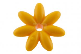 Bright light orange friends accessories flower with 7 thin petals friends accessories flower with 7 thin petals and pin mightylinksfo
