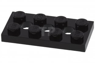 6x Lego Technic Platte 2 x 4 mit 3 Löchern 3709b schwarz 370926 Technic