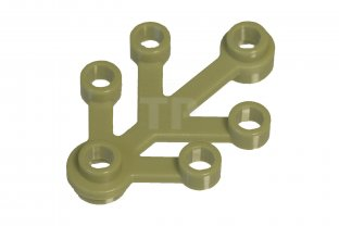 6268815 Lego 4x3 Pleant Leves Olive Green New