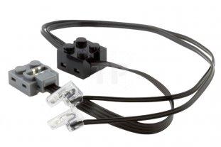 Nero elettrico unità dilluminazione power functions con connettore
