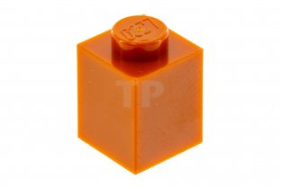 Lego 4 Orange 1x1 brick block NEW