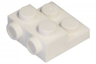 Lego 50 New Tan Plates Modified 2 x 2 x 2//3 with 2 Studs on Side Pieces