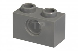 4211111 10 Lego Dark Bluish Gray 1x2 Technic Brick with one hole NEW