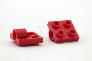 2 X  Lego Technic 2444 Plate Modified 2 x 2 with Hole Red