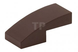New Part 11477 Element 6046943 Lego Dark Brown Slope Curved 2x1 Qty:25