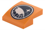 Orange Slope, Curved 2 x 2 No Studs with Arctic Explorer Logo Pattern