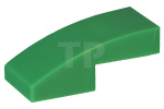 Green Slope, Curved 2 x 1 No Studs