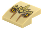 Tan Slope, Curved 2 x 2 No Studs with Lion Armor and Eyes Pattern