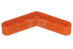 Trans-Neon Orange Technic, Liftarm 1 x 7 Bent (4 - 4) Thick