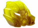 Pearl Gold Bionicle Mask of Stone with Marbled Trans-Neon Green Pattern