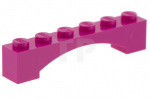 Dark Pink Brick, Arch 1 x 6 Raised Arch
