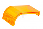 Trans-Orange Panel 3 x 4 x 6 Curved Top