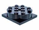 Black Turntable 4 x 4 Square Base with Top, Complete Assembly