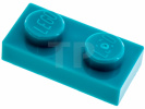 Donker Turquoise Plaat 1 x 2