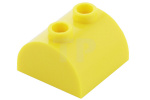 Yellow Brick, Modified 2 x 2 Curved Top with 2 Top Studs
