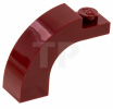 Dark Red Brick, Arch 1 x 3 x 2 Curved Top