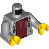mains Gris Foncé Lego torse gris clair light bluish gray NEUF Dark Bluish Gray