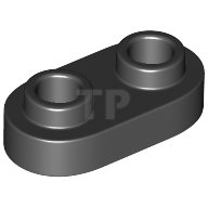 LEGO® Black Plate 1 x 2 Rounded 2 Open Studs Design ID 35480
