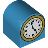 main image for DUPLO Brick, Modified 2 x 2 x 2 Curved Top with Clock Pattern