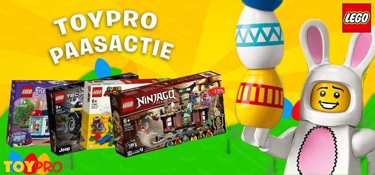 ToyPro Paaspromotie. Extra korting op vele LEGO® sets