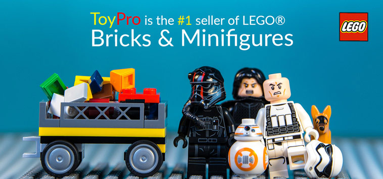 ToyPro is the #1 seller of LEGO® Bricks and Minifigures
